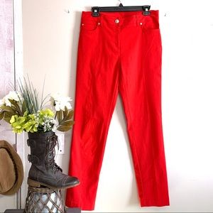 New Directions Red Straight Leg Casual Pants